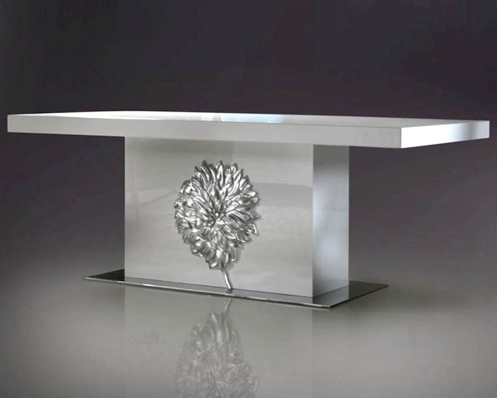 Nora Modern White Lacquer Dining Table 44DLS202