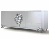 Nora Modern White Lacquer Large Buffet 44DLS511A