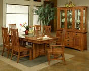 Oak Dining Set w/ Brentwood Chairs Bungalow by Ayca AY-AP5-Set1