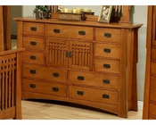 Oak Dresser in Cherry Finish Bungalow by Ayca AY-AP5-0611