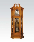 Oak Finish Grandfather Clock by Acme Furniture AC01410