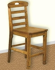 Oak Ladderback Pub Chair SU-1822RO (Set of 2)