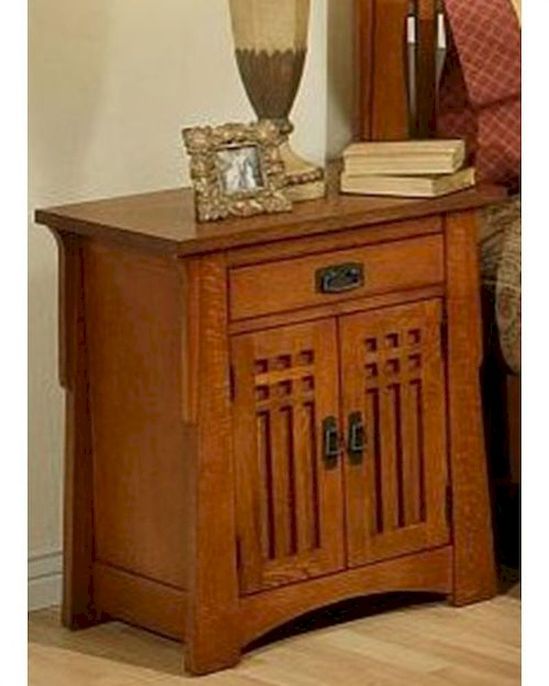 Oak Nightstand In Cherry Finish Bungalow By Ayca AY AP5 0661