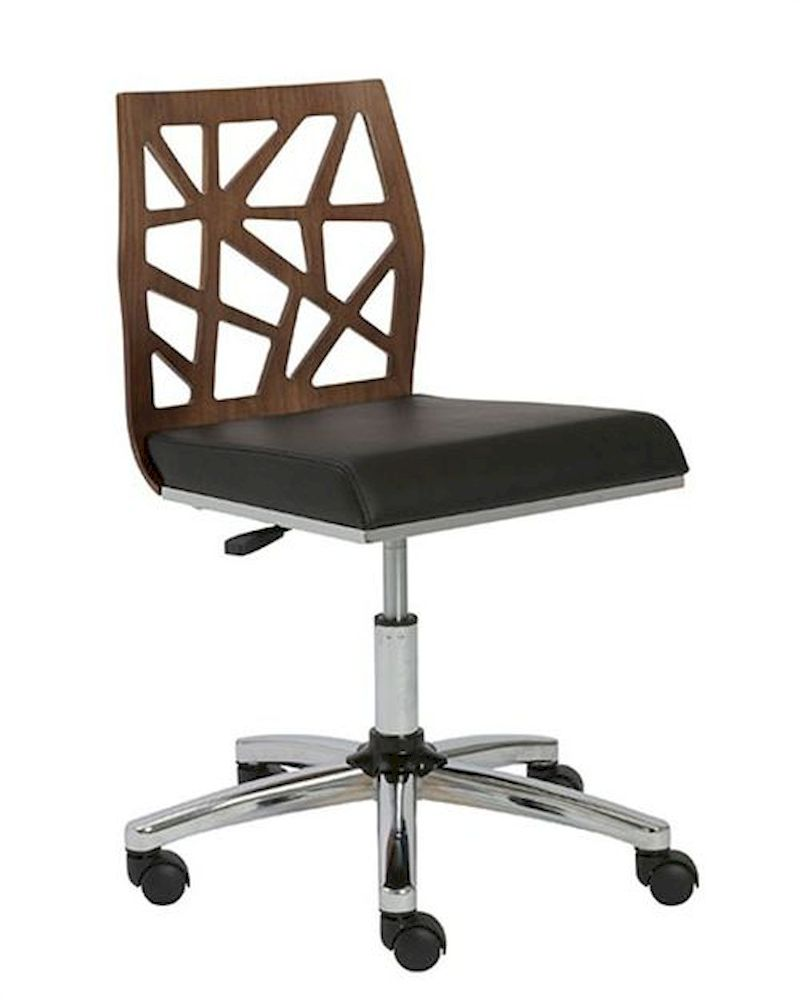 Office armless chair sophia by euro style eu 2715 alc for Armless office chairs