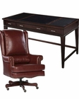 Office Set w/ Ash Leather Top Table Desk by Hekman HE-79188-SET