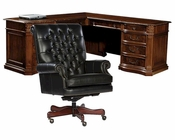 Office Set w/ L-Desk Old World by Hekman HE-79167-SET