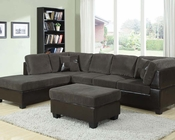Olive Gray Sectional Sofa Set Connell by Acme Furniture AC55955SET