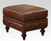 Ottoman in Dark Brown Shantoria by Acme Furniture AC51318