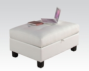 Ottoman w/ Storage Kiva White by Acme Furniture AC51177