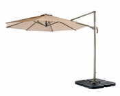Outdoor Beige Weatherproof Fabric Umbrella 44P214U