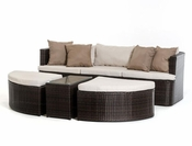 Outdoor Brown / Beige Sofa Set in Modern Style 44P203-SET