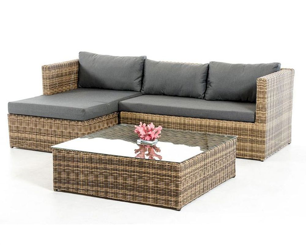 Outdoor sectional sofa set in modern style 44p462 set for Sectional sofa set