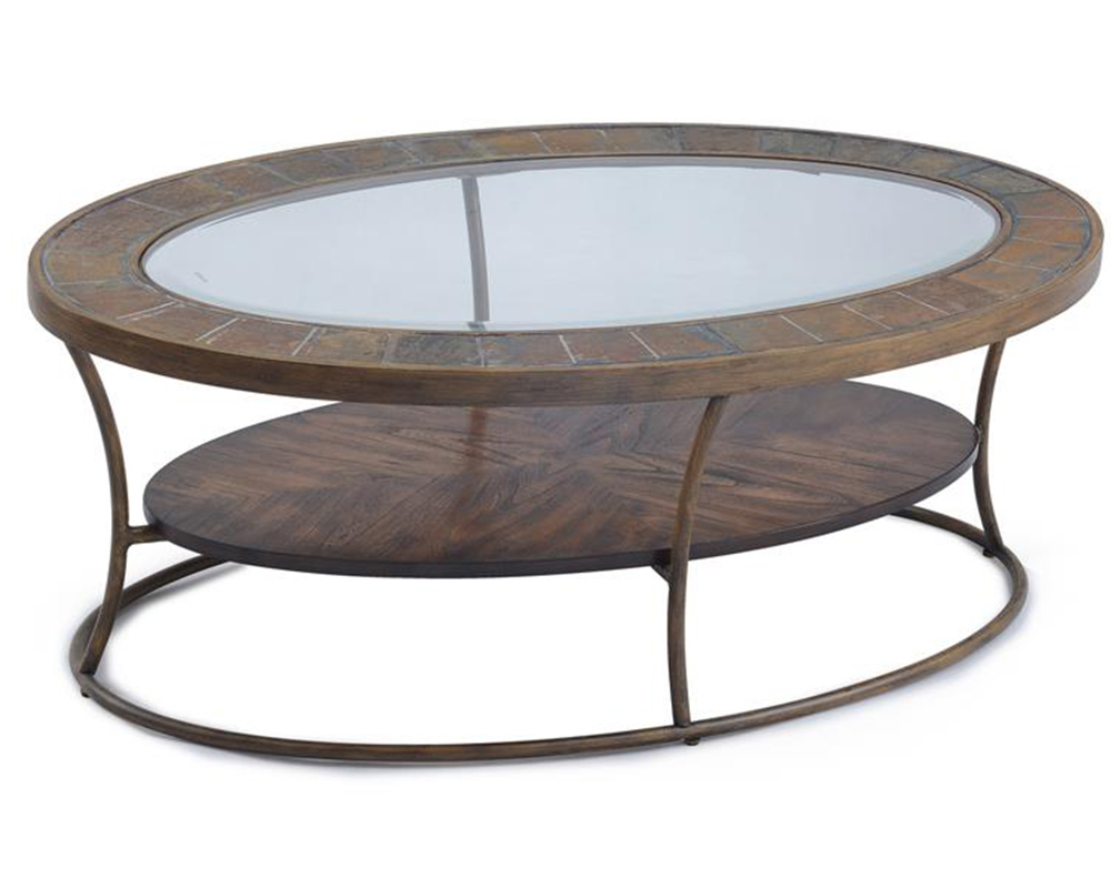 Oval cocktail table desoto by magnussen mg t3048 47 for Cocktail table 47