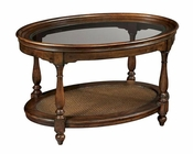 oval coffee table vintage european by hekman he23201