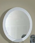 Oval Mirror Agata in White 35B56