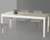 Palmira Modern White Lacquer Dining Table 44DT061