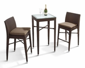 Palmira Outdoor Patio 3pc Bar Set 44PHT25