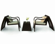 Paola Outdoor Patio Modern 3pc Seating Set 44PHT28-1