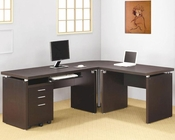 Papineau Contemporary L Shaped Home Office Set CO80089