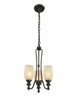 ELK Park Ridge 3 Light Chandelier in Oil Rubbed Bronze EK-11655-3