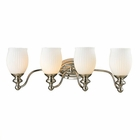 ELK Park Ridge Collection 4 light bath in Polished Nickel - LED EK-11643-4-LED