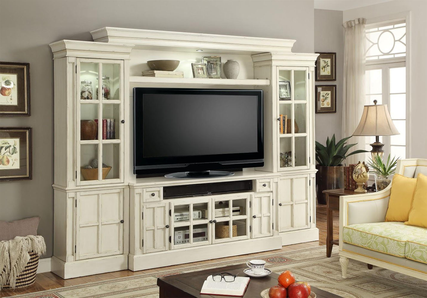 Parker House 62in TV Entertainment Center Wall Unit Charlotte PH CHA 162 4