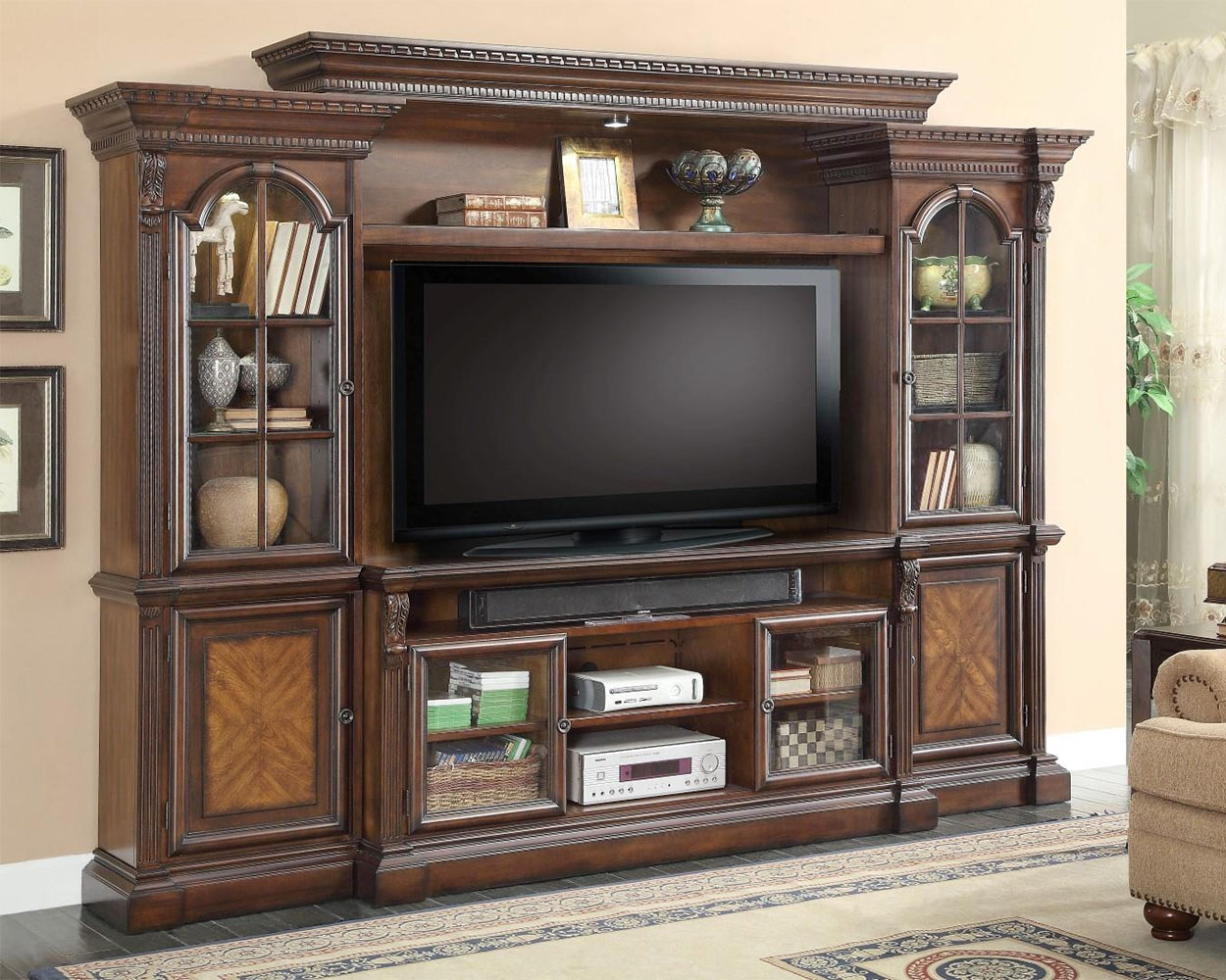 Entertainment Center Wall Unit Furniture