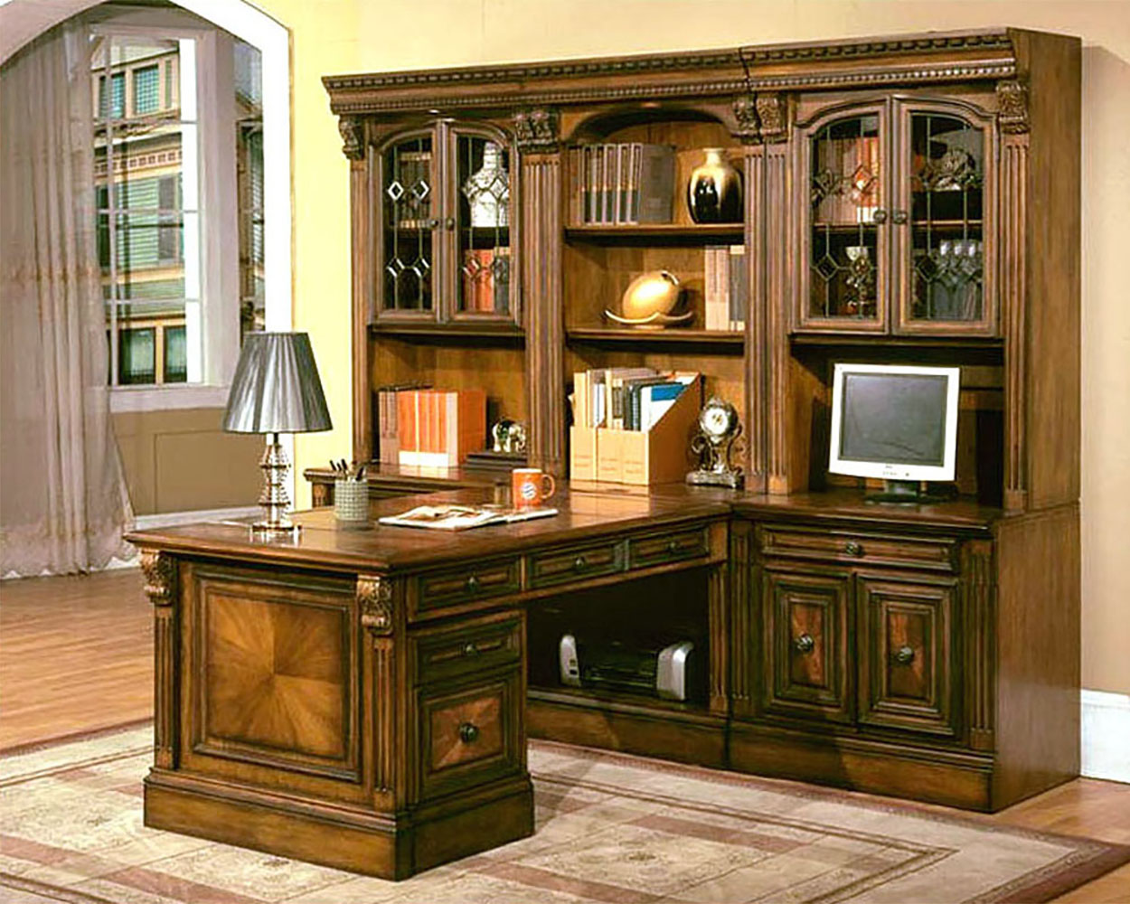 home office set. parker house huntington home office set phhun10 r