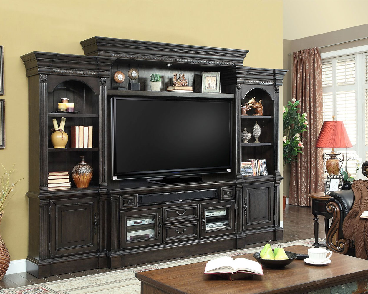 Parker house tv entertainment center wall unit fairbanks Home entertainment center
