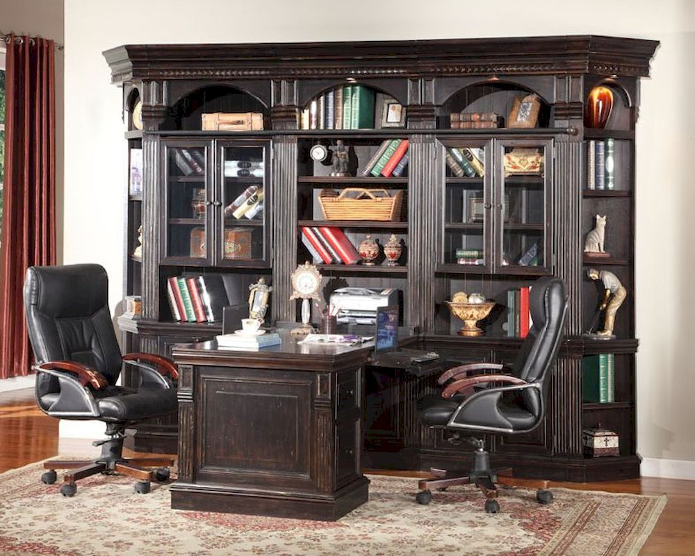 Amazing Parker House Venezia Home Office With Peninsula Desk PH VENSET3