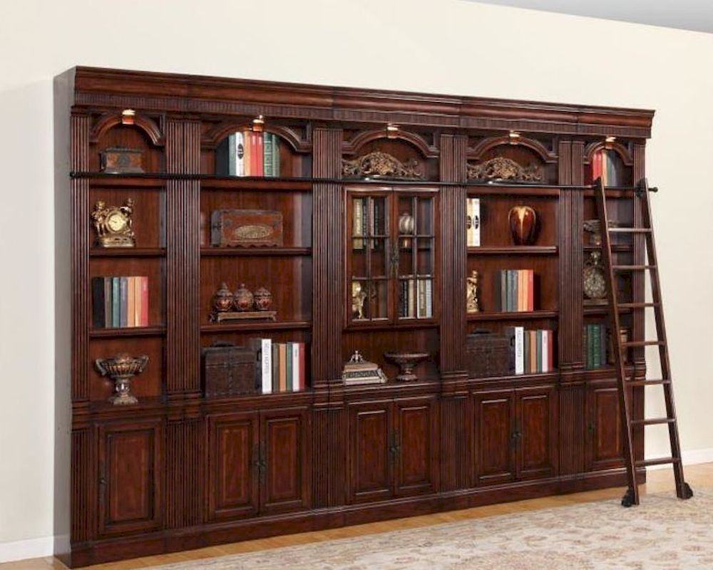 Parker House Wellington Library Bookcase Wall Set Phwel Set3
