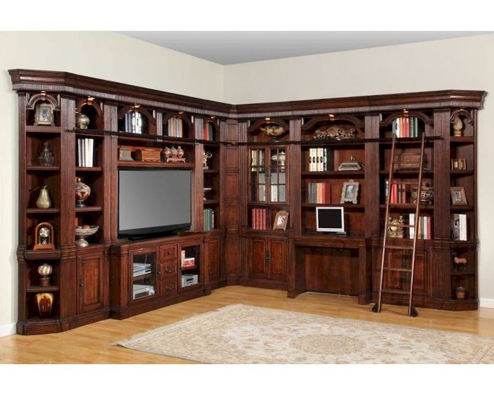 High Quality Parker House Wellington Library Wall Unit PHWEL SET1