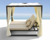 Patio Canopy Day Bed w/ Dual Adjustable Backrests 44P110-B