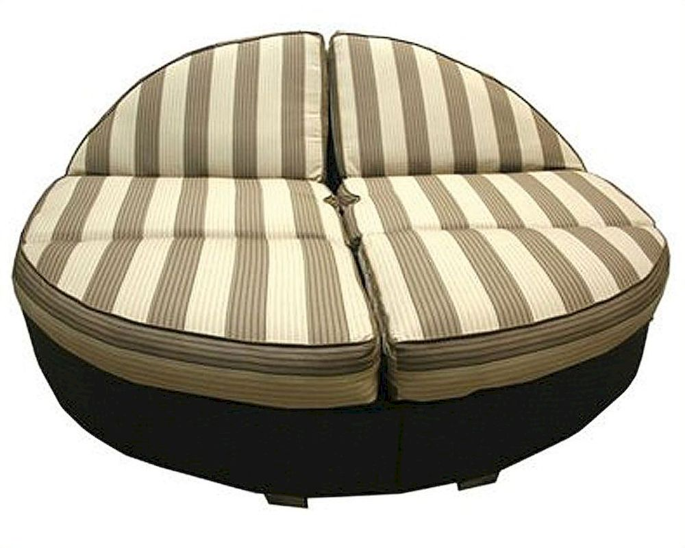 Patio Heaven Outdoor Round Double Chaise Santa Barbara HE