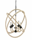 ELK Pearce Collection 5 Light Chandelier in Matte Black EK-15902-5