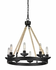 ELK Pearce Collection 8 Light Chandelier in Matte Black EK-15903-8