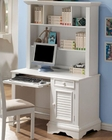 Pebble Beach Classic Computer Desk and Hutch with Shelves CO40012