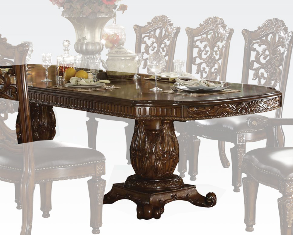 7efe18bc933503 Pedestal Dining Table Vendome Cherry by Acme Furniture AC60000