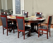 Pedestal Poker Table Set w/ Dining Top and Classic Chairs PT-77052
