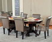 Pedestal Poker Table Set w/ Dining Top and Premium Chairs PT-77052P