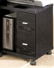 Peel 2 Drawer Computer Stand in Black CO800822