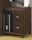 Peel 2 Drawer Computer Stand in dark Brown CO800832