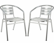 Outdoor Dining Chairs in Silver by Modway (Set of 2) MY-EEI946SLV