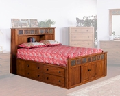 Petite Bed w/ Storage Headboard Sedona by Sunny Designs SU-2333RO-S