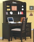 Phoenix Single Pedestal Youth Computer Desk with Hutch CO40018