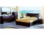 Platform Bed w/ Storage in Contemporary Style Bedroom Set 44B224SET