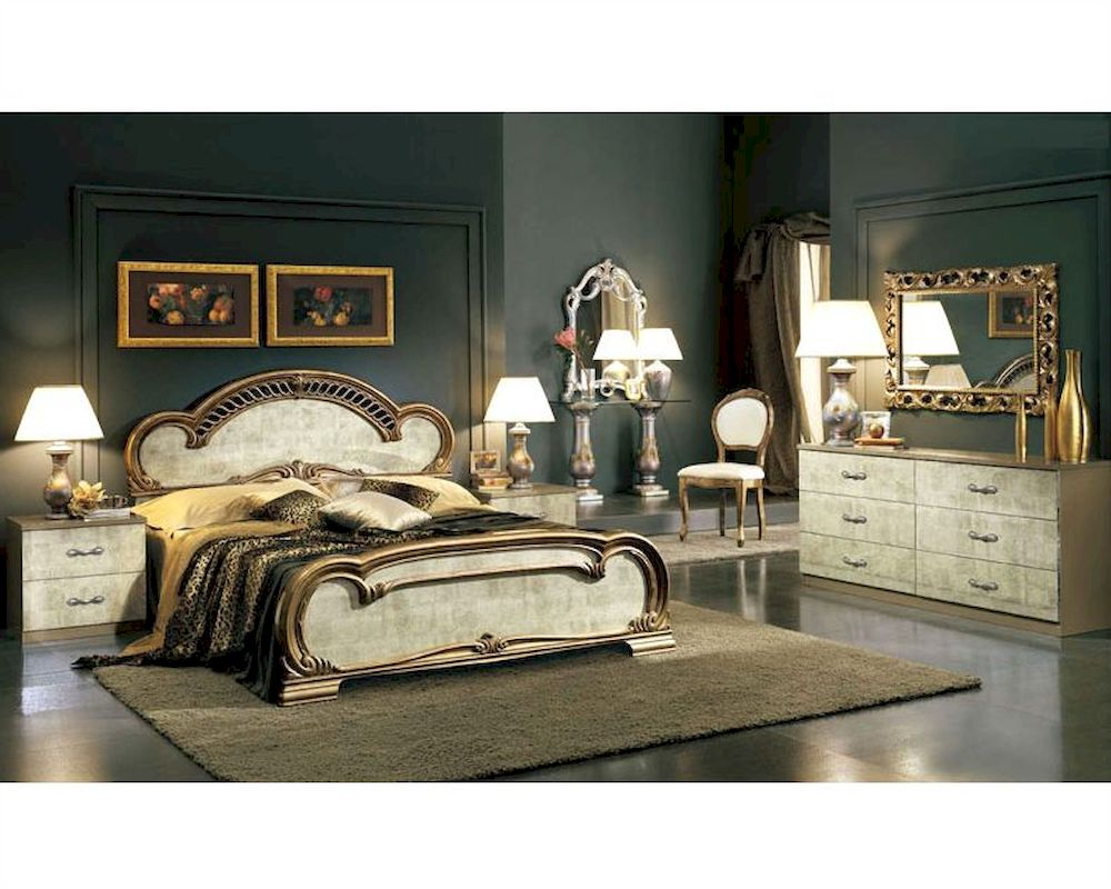 Platform Bedroom Set Empire Classic Style Made In Italy 33b501