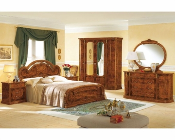 Platform bedroom set minerva european design made in italy for Design made in italy