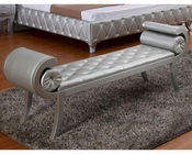 Platinum Leatherette Bench 44B196BN
