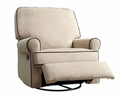 PRI Birch Hill Swivel Recliner in Beige PR-DS-913-006-175